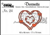 Crealies - Decorette no. 24 - Intertwined Hearts die - CLDR24